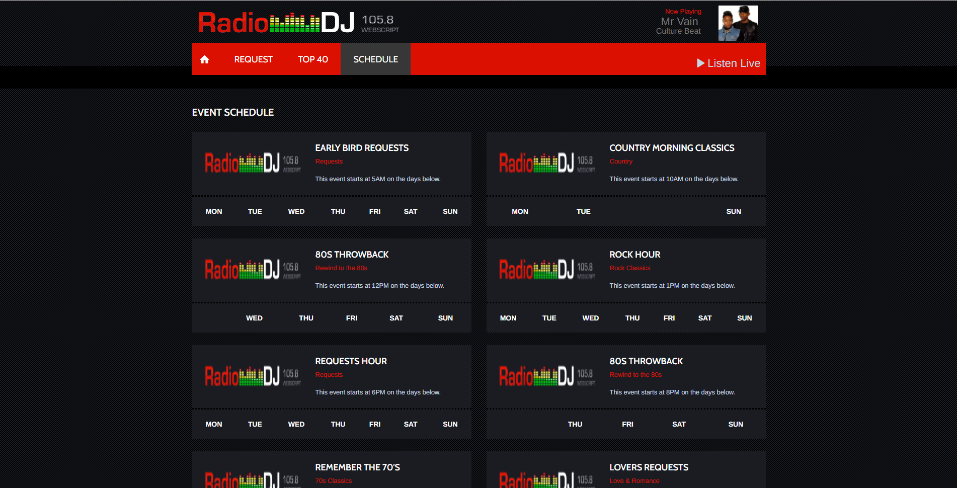 RadioDJ 105.8R Webscript